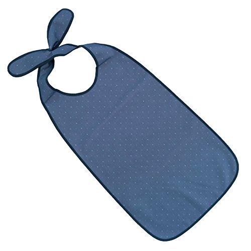 PFLEGE-POINT® Kleidungsschutz/Ess-Schürze für Erwachsene mit Steckverschluss, wasserdicht (dunkelblau)