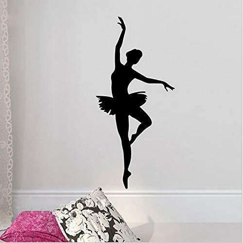 Zaosan BallerinaWandaufkleberSilhouette Mädchen Tanz Applikation Wohnzimmer180x88cm