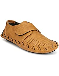 [Sponsored]Zebx Men's Casual Synthetic Leather Fabric Belt Closure Loafers
