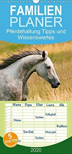 Pferdehaltung Tipps und Wissenswertes - Familienplaner hoch (Wandkalender 2020 , 21 cm x 45 cm, hoch): Ein Wandschmuck für Pferdefreunde mit Ratgeber (Monatskalender, 14 Seiten ) (CALVENDO Tiere)