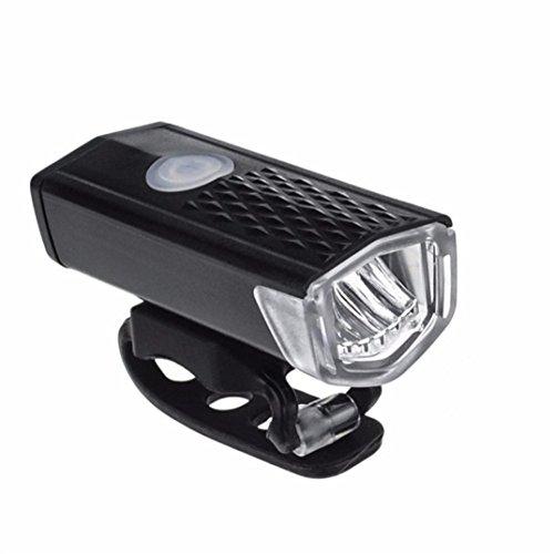 bescita Fahrrad Lampen, Fahrrad Frontlicht USB Aufladbare LED Fahrrad Radfahren Scheinwerfer Lampe Taschenlampe mit USB Kable, Schwarz
