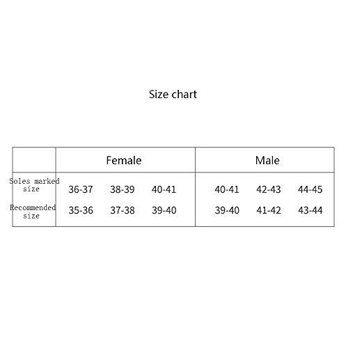 ZHIRONG Pantoufles Hommes et Femmes Printemps et Automne Hommes Chaussons de coton doux et épais ( Couleur : Gris , taille : 44-45 ) Rose