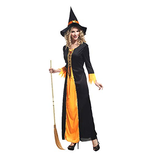 CreepyRevelry Halloween Pumpkin Witch Hair Band Carnival Cosplay Costume Girl Women Sexy Braces Dress Party Performance Fruit Vegetable Suits (W-0028) -