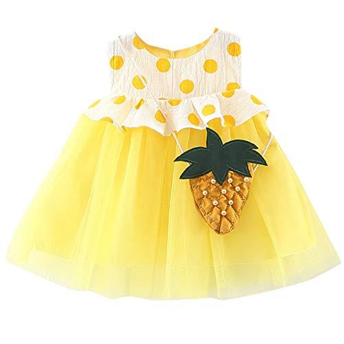 Sommerkleider Mädchen, UFODB Neugeborenes Kids Baby Dot Tulle Patchwork Tutu Sommer Fest Kleid Sommerkleid Festkleid Beach Für 0-2Jahres