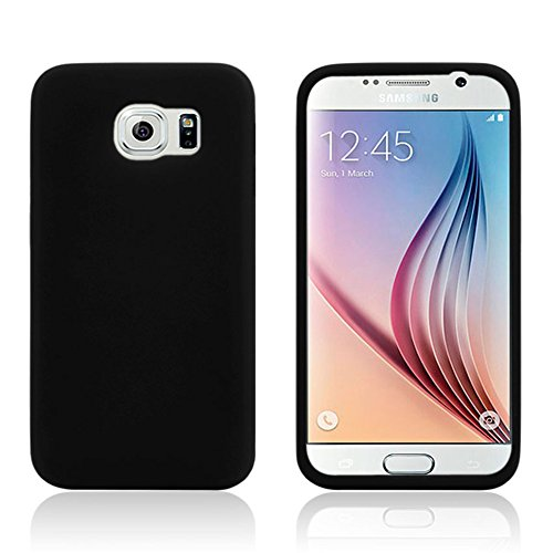 All Five Stars Galaxy S6 Soft Silicone Gel Flexible Rubber Skin Cover Pouch Case for Samsung Galaxy S6 (Black)
