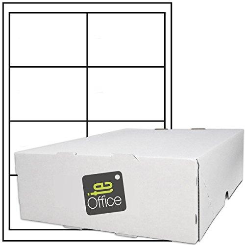 TE-Office 4000 Stück Haftetiketten Klebeetiketten Versandetiketten auf A4 Bogen weiß matt 97 x 67,6 mm Laser Inkjet