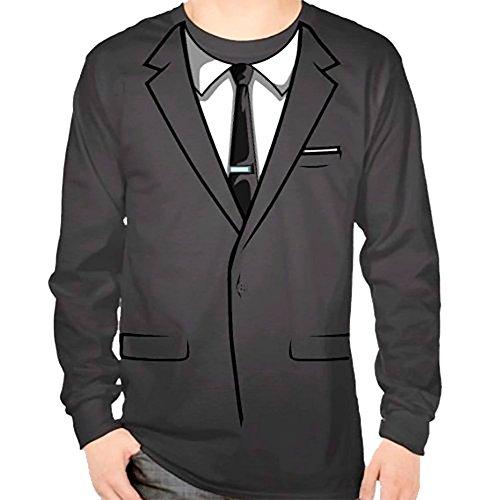 eves Kostüm Erwachsene Grau T-Shirt (Medium) (Archer Erwachsenen Kostüme)