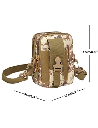 CUKKE Multipurpose Taktische Tasche Gürtel Taille Pack Tasche Military Taille Fanny Pack Telefon Tasche Gadget Geld Tasche Grün Tarnung 6