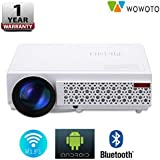 WOWOTO H8 2500 Lumens Android WiFi Bluetooth Hd 1280X800 Projector Suitable For Office/School/Home