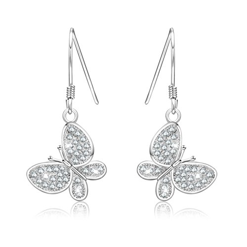 925 Orecchini d'argento/ Orecchini lunghi/Moda orecchini di diamanti (Diamante Forma 925 Orecchini D'argento)