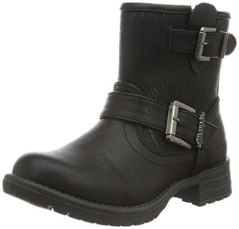 Wrangler Mädchen Fire Buckle Girl Biker Boots, Schwarz (62 Black), 34 EU
