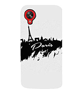 For LG Nexus 5 :: LG Google Nexus 5 :: Google Nexus 5 black design, cream background, tower, good quotes Designer Printed High Quality Smooth Matte Protective Mobile Case Back Pouch Cover by APEX
