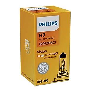 Philips H7 Vision |+ 30% mehr Licht | - 4 Stuck