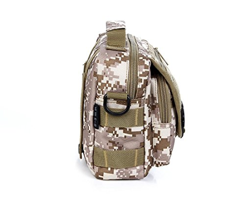 FFZH Sport all'aria aperta borsa a tracolla camuffamento impermeabile / escursione casuale / sacchetto camouflage digitale / sacchetto camuffamento degli uomini di sacchetto , khaki desert