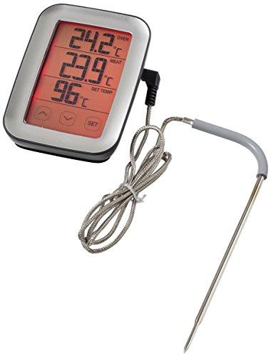 Sunartis Digitales Fleisch- und BBQ Thermometer mit Touchscreen, Kunststoff, Schwarz/Edelstahl, 10.7 x 7.1 x 4.0 cm