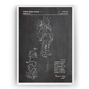 Apollo Raumanzug Patent Poster – NASA Jahrgang Drucke Drucken Bild Kunst Geschenke Zum Männer Frau Entwurf Dekor Vintage Art Blueprint Decor – Rahmen Nicht Enthalten