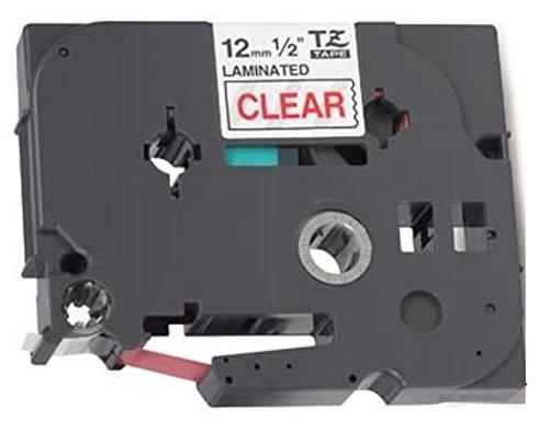 Compatibile Cassette TZe-132 TZ-132 rosso su trasparente 12mm x 8m Nastro laminato per Brother P-Touch PT-1000 1005 1010 9600 D200 D210 D210VP D450VP D600VP E100 H101C H105 H110 H300 H500 P700 P750W