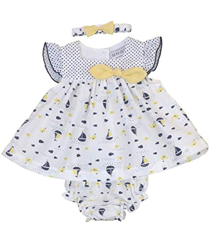 BabyPrem Baby Kleid 3-teiliges Set Nautisch Dunkelblau 56-62cm 0-3 Monate