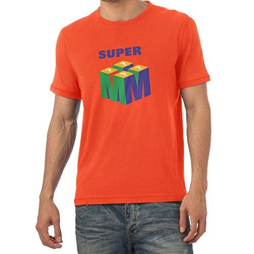 NERDO Super 64 - Herren T-Shirt, Größe L, Orange