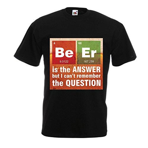 n4520-manner-t-shirt-das-bier-ist-die-antwort-x-large-schwarz-mehrfarben