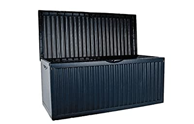 XL Auflagenbox mit Rollen 350L Gartenbox Gartentruhe Auflagen Kissenbox Gartentruhe blau von Dynamic24 - Du und dein Garten