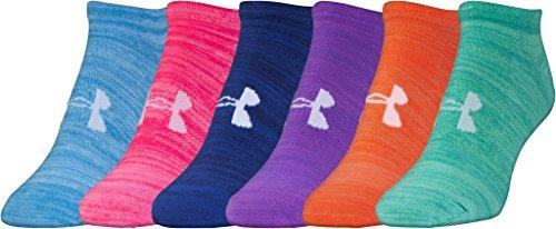 Under Armour Damen Uaw Essential Twist NO Show Socken, Mehrfarbig Assorted, M (Under Armour-socken-damen)