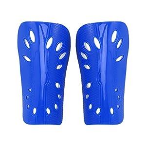 LIOOBO 1 para leichte atmungsaktive Erwachsene Kalb Schutzausrüstung Fußballausrüstung für Männer Frauen (blau)