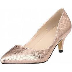 Zhuhaixmy Frühling Frau Candy Color Spitz Toe Flacher Mund Krokodil Muster Pumpen Schuhe
