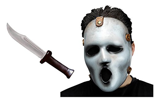 Scream The Series Serien Maske MTV + Scream PLUS Scream Messer The New Scream Chapter Halloween Maske Halbmaske ohne (Scream Erwachsene Maske)