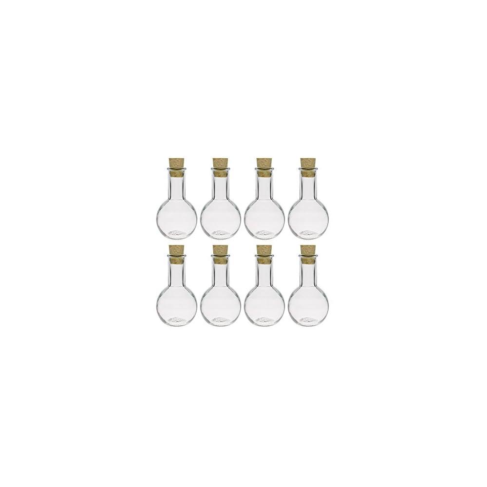 Glasflaschen Set Mit Press Korken 812 Teilig Fllmenge 100 Ml Tulipano Korkverschluss Likrflasche Lflasche Glasflasche