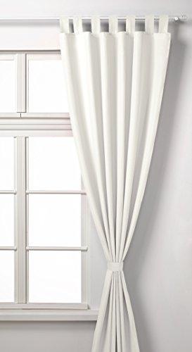 Vorhang Blickdicht Matte unifarbene Gardine mit Schlaufen. Aus edlem Microsatin Micofaser-Gewebe. 225x140, Creme, 20400 (Rüschen-gardinen Lila)
