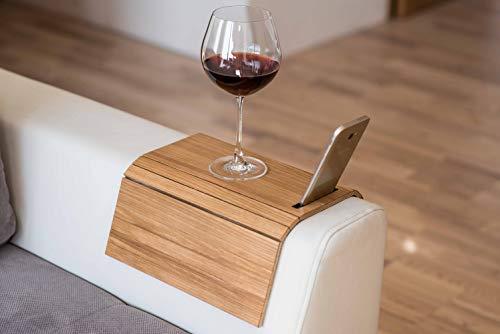 Bar Aus Holz Armlehne (Armlehnenschoner aus Holz, Sofa-Ablage, Untersetzer, Sofa-Tablett, Handyhalterung Farbe 3.)