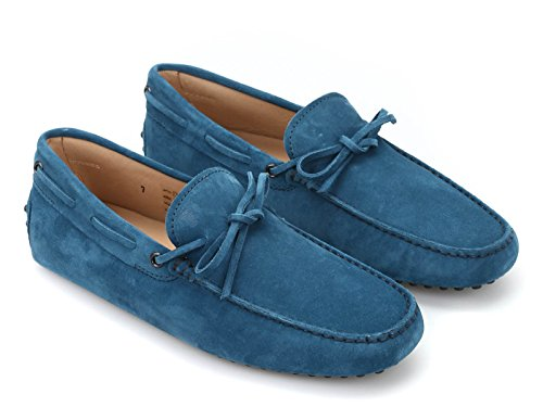 tods-mens-azure-suede-leather-gommino-moccasins-model-number-xxm0gw05470re0t603-size-9-uk