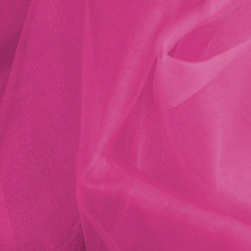 149,86 cm breiter Crystal Organza Voile Kleid Dance Handwerkskunst aus Stoff, Meterware - Hot Pink Rosa (Rosa Voile-kleid)