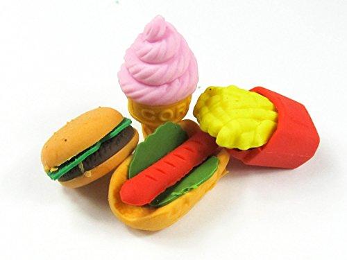 4er-set-radiergummi-fast-food-radierer-miniblings-eis-hamburger-pommes-hotdog