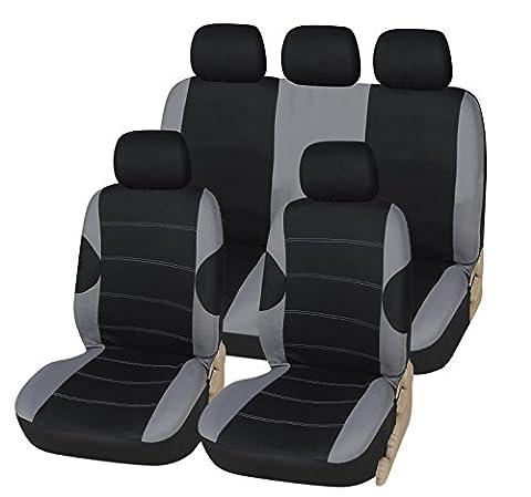 FORD GRAND C-MAX 10-on Luxe Housse de siège noir et gris Sport