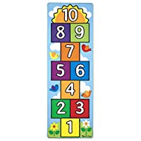 Melissa & Doug Hop & Count Hopscotch Rug (Play Space & Room Decor, Sturdy Woven Floor Rug, Durable Materials, Skid-Proof Backing, 68.58 cm H x 13.97 cm W x 13.97 cm L)