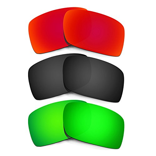 HKUCO Plus Mens Replacement Lenses For Oakley Gascan - 3 pair Combo Pack