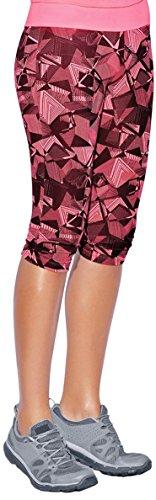 Haby Leggings de Sport à Capris pour Femme Gym Musculation Collants de Course Ceinture large Rose - Fuchsia