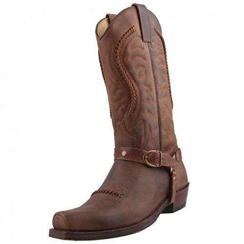 Sendra Cowboystiefel 3434 Braun, Schuhgröße:EUR 44