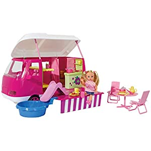 Simba Evi Love 105736221 Camper with Doll and Accessories, 45 Pieces