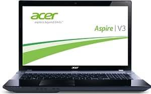 Acer Aspire V3-771G-736b8G50Makk 43,9 cm (17,3 Zoll) Notebook (Intel Core i7 3630QM, 2,4GHz, 8GB RAM, 500GB HDD, NVIDIA GT 640M, DVD, Win 8) schwarz