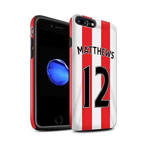 Officiel Sunderland AFC Coque / Matte Robuste Antichoc Etui pour Apple iPhone 7 Plus / Kone Design / SAFC Maillot Domicile 15/16 Collection Matthews