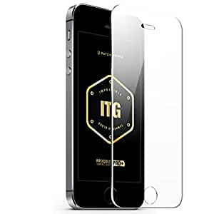 iPhone 5 Impossible Tempered Glass Screen Protector, ITG Apple iPhone 5/5s HD Clear Tempered Glass Screen Protector, (0.33mm) Beveled Edge - Patchworks ITG Pro Plus for iPhone 5/5s
