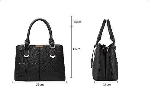 Dame Handbag Handtasche Lychee Muster Fashion City Weibliche Tasche Einfache Elegant Casual H