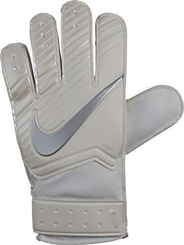 Nike Kinder Torwart-Handschuhe NK G Torwarthandschuhe, White/Chrome, 3