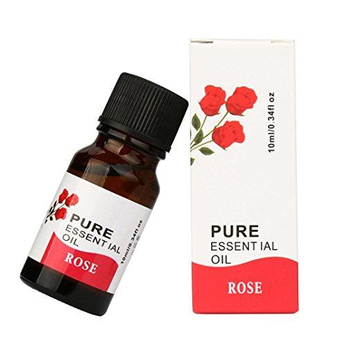 BeautyTop 10ml 100% reine & natürliche ätherische Öle Aromatherapie Duft Hautpflege (Rose)