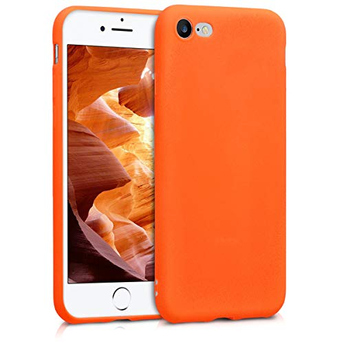 kwmobile Apple iPhone 7 / 8 Hülle - Handyhülle für Apple iPhone 7 / 8 - Handy Case in Neon Orange