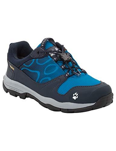 Jack Wolfskin Jungen AKKA Texapore Low B Wasserdicht Trekking- & Wanderhalbschuhe Blau (Night Blue 1010), 32 EU