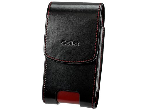 Cellet Omega Tasche für Motorola RAZR V3, V3xx, Samsung SYNC, Sanyo Katana, Schwarz/Rot Sprint Sanyo Katana